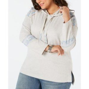 Style & Co Plus 2X Embellished Fashion Sweatshirt